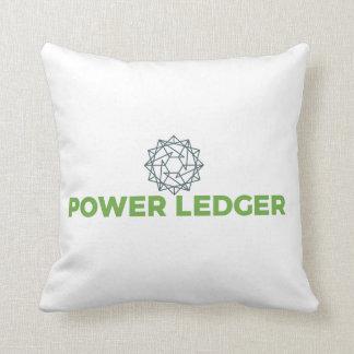 Almofada Travesseiro do logotipo do livro- POWR do poder