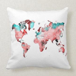 Almofada travesseiro do mapa do mundo