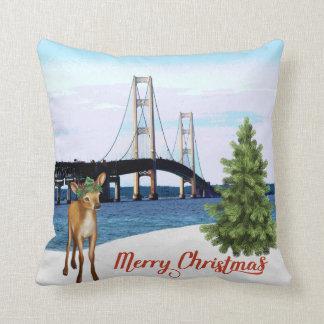 Almofada Travesseiro do Natal da ponte de Mackinac