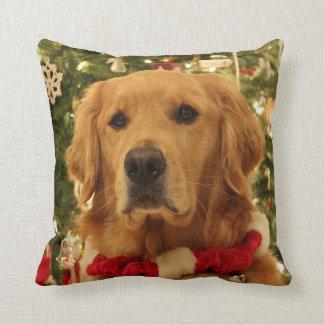 Almofada Travesseiro do Natal do golden retriever