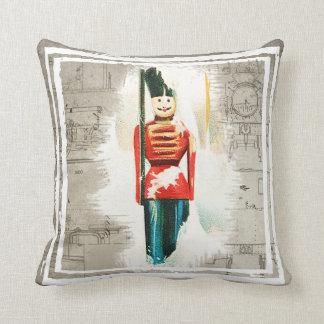 Almofada Travesseiro do Natal do soldado de brinquedo do