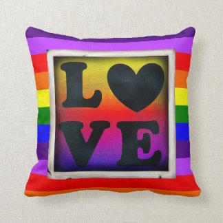 Almofada Travesseiro do orgulho & do apoio do coração LGBT