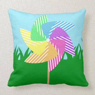 Almofada Travesseiro do Pinwheel do jardim
