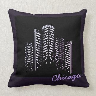 Almofada Travesseiro do poliéster da skyline de Chicago