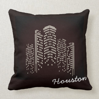 Almofada Travesseiro do poliéster da skyline de Houston