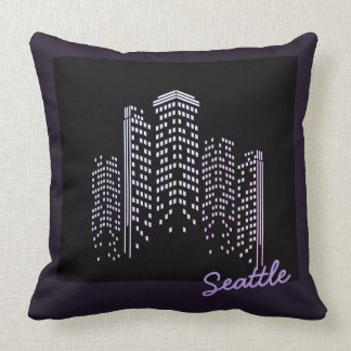Almofada Travesseiro do poliéster da skyline de Seattle