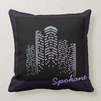 Almofada Travesseiro do poliéster da skyline de Spokane