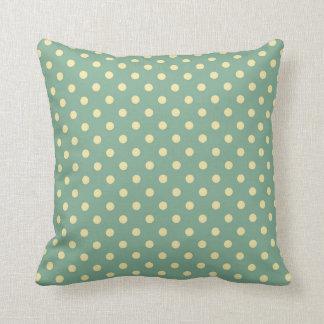 Almofada Travesseiro do polkadot da cerceta