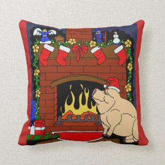 Almofada Travesseiro do porco do Natal