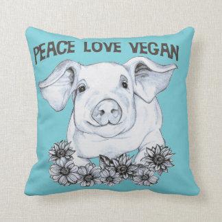 Almofada Travesseiro do porco do Vegan do amor da paz