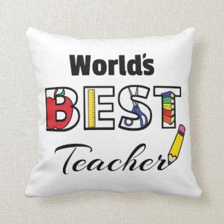 Almofada Travesseiro do professor do mundo o melhor