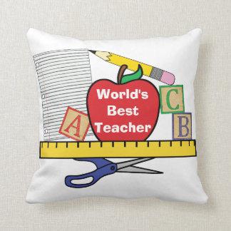 Almofada Travesseiro do professor do mundo o melhor/vida do