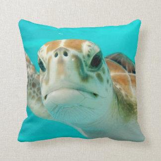 Almofada Travesseiro do quadrado da tartaruga de mar