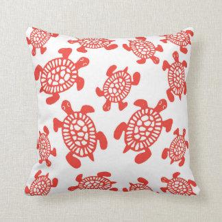 Almofada Travesseiro do quadrado das tartarugas de mar