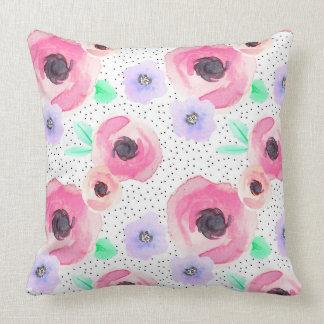 Almofada Travesseiro do rosa da polca da flor de Indy