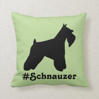 Almofada Travesseiro do Schnauzer de Hashtag