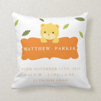 Almofada Travesseiro do Stats do anúncio do nascimento do