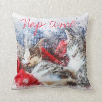 Almofada Travesseiro do tempo da sesta de dois gatinhos