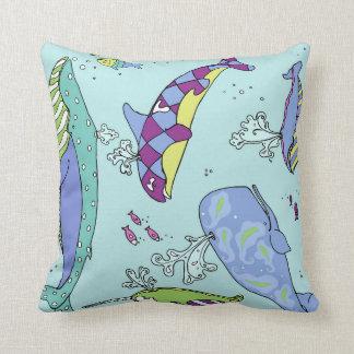 Whale Pattern Pillow