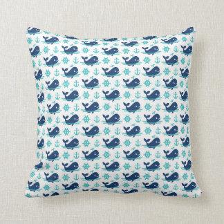 Almofada Travesseiro do teste padrão da baleia
