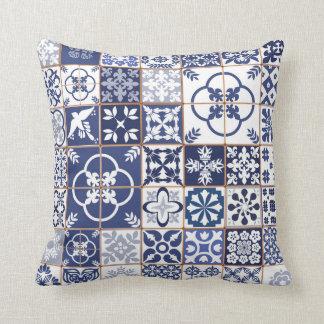 Almofada Travesseiro do teste padrão de Azulejos