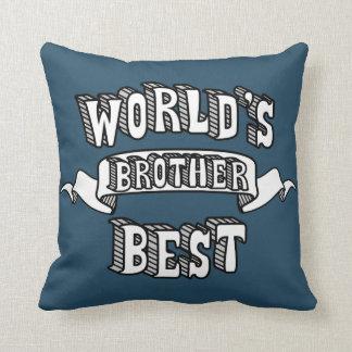 Almofada Travesseiro do texto da tipografia do irmão do