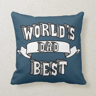 Almofada Travesseiro do texto da tipografia do pai do mundo