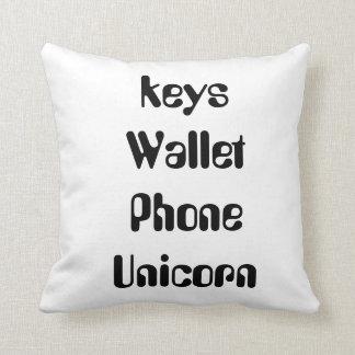 Almofada travesseiro do unicórnio do telefone da carteira