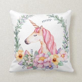 Almofada Travesseiro do unicórnio e da flor
