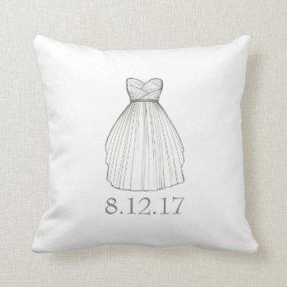Almofada Travesseiro do vestido da data do casamento da