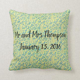 Almofada Travesseiro do vintage do presente de casamento