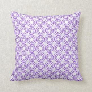 Almofada Travesseiro do Vortex espiral da lavanda