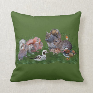 Almofada Travesseiro dos animais da floresta