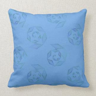 Almofada Travesseiro dos azul-céu e da espiral