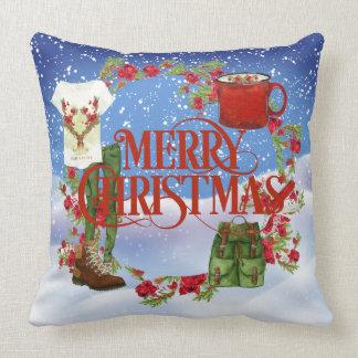 Almofada Travesseiro dos caminhantes do Feliz Natal com