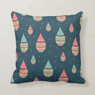 Almofada Travesseiro dos doodles do pingo de chuva