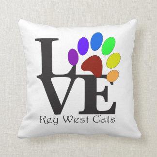 Almofada Travesseiro dos gatos de Key West do AMOR