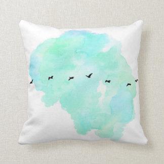 Almofada travesseiro dos pássaros de vôo