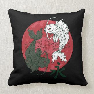 Almofada Travesseiro dos peixes de Yin Yang Koi