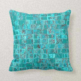 Almofada Travesseiro dos quadrados da parede de tijolo do