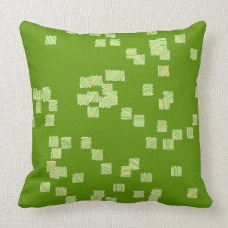 Almofada Travesseiro dos quadrados verdes e brancos