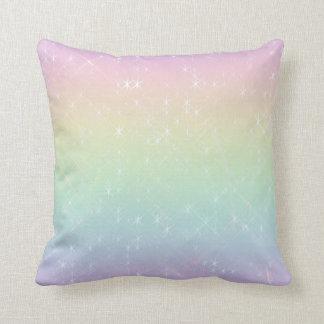 Almofada Travesseiro dos Sparkles do arco-íris