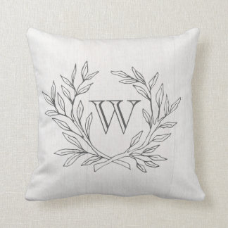 Almofada Travesseiro elegante Monogrammed do acento da
