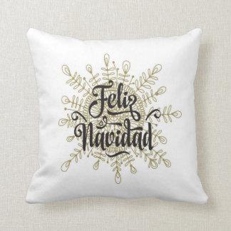 Almofada Travesseiro espanhol do Natal do floco de neve de