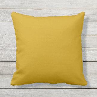 Almofada travesseiro exterior do amarelo da mostarda