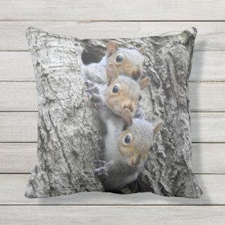 Almofada Travesseiro exterior dos esquilos bonitos