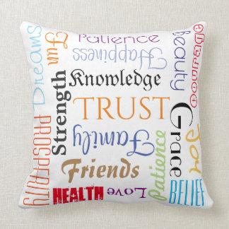 Almofada Travesseiro extraordinário de 18 desejos da vida