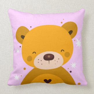 Almofada Travesseiro feliz bonito do ursinho