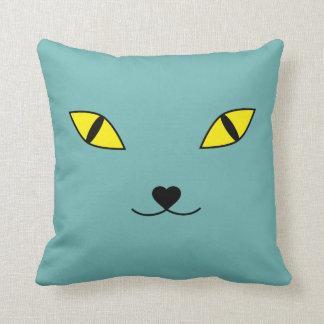 Almofada Travesseiro feliz da cara do gato