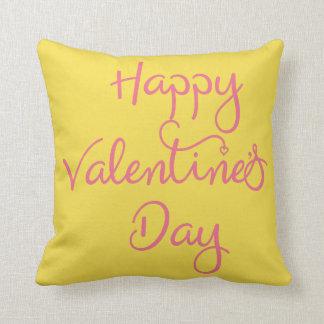 Almofada Travesseiro feliz do dia dos namorados